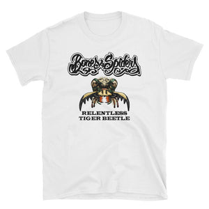 Bones and Spiders – Tiger Beetle – T-Shirt