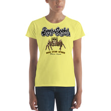 Download the image in the gallery Viewer, Bones and Spiders - Rock Star Spider - Women's T-Shirt - various colors selectable