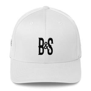 """Bones and Spiders Flexfit Cap """"B & S"""", embroidery on three sides!"""