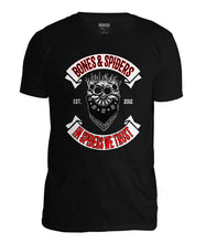 Upload the image to the Gallery Viewer, Bones & amp; Spiders - Outlaw Jumping Spider Skull - T-shirt