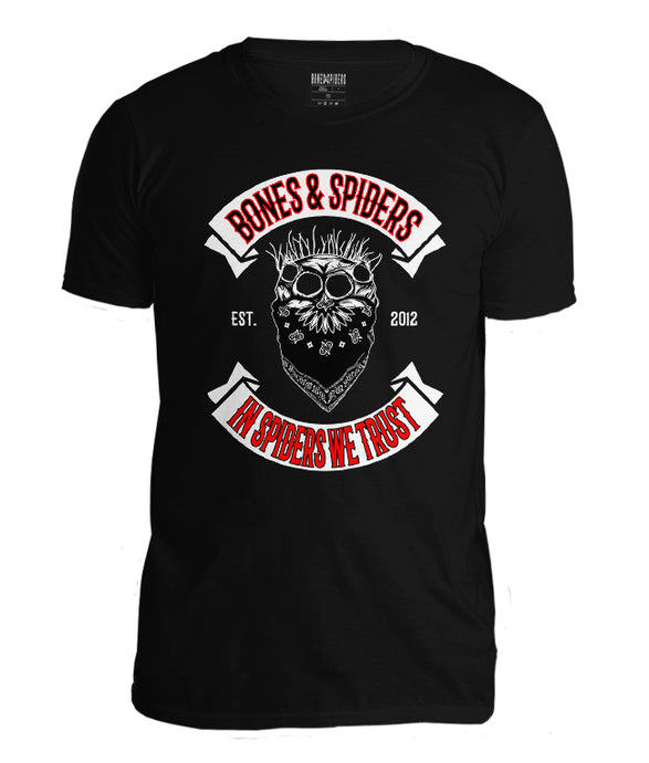 Bones & Spiders - Outlaw Jumping Spider Skull - T-Shirt