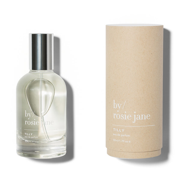 Tilly is a clean, non-toxic fragrance with notes of grapefruit, coconut and gardenia