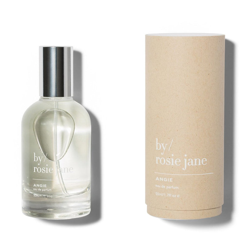 Angie is a clean, non-toxic fragrance inspired by Los Angeles with notes of honeysuckle, jasmine and fig