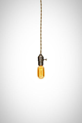 minimalist brushed silver edison pendant light