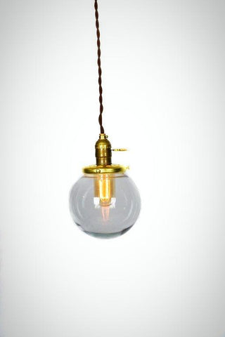 Simply Modern Vintage Style Small Glass Globe Pendant - Junkyard Lighting