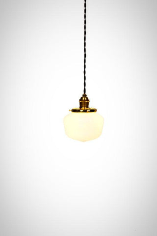 Vintage Modern Mini Schoolhouse Pendant Light