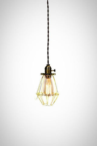 Vintage Industrial Cage Light - Economy Minimalist Bare Bulb Pendant Light