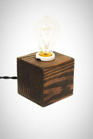 The Minimalist Edison Bare Bulb Table Accent Lamp ( Ebony )