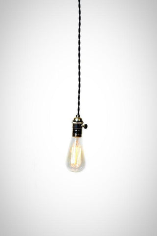 Simply Modern Bare Bulb Chrome Socket Pendant Light