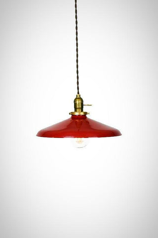 "Industrial 12"" Porcelain Enamel Shade Edison Pendant Light (options) - Junkyard Lighting"