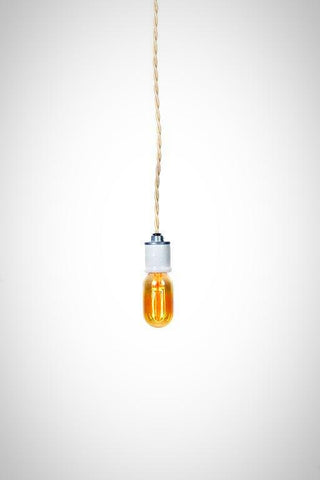 Modern Industrial Porcelain Socket Simple Pendant
