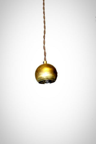 Mini Brass Shade Vintage Modern Pendant Light