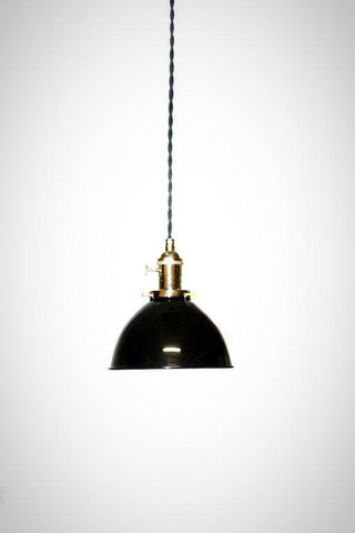 Porcelain Enamel Farmhouse Shade Pendant Light ( Multiple Shade Colors )