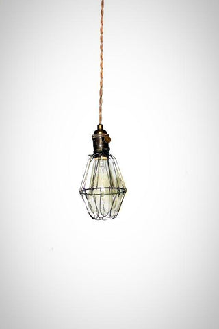 Simply Modern bare bulb caged edison pendant light in oil rubbed bronze