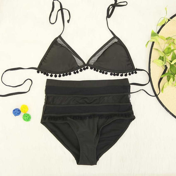 High Waist Tassel Designed Swimwear