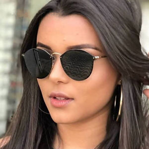Remo Rimless Luxury Round Sunglasses
