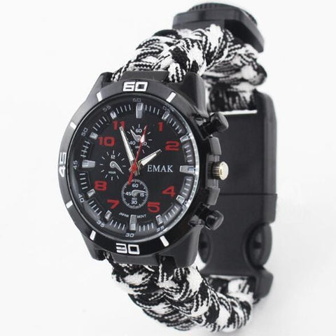 Multifunctioneel Survival Horloge - outdoor spullen