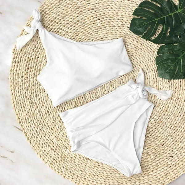 One Shoulder Hi-waist Bikini - Kate Wardrobe