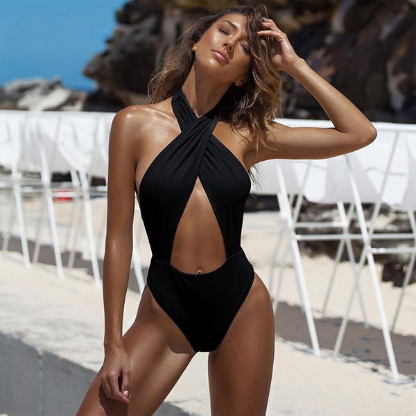 Cross Chest Ocean Monokini - Kate Wardrobe