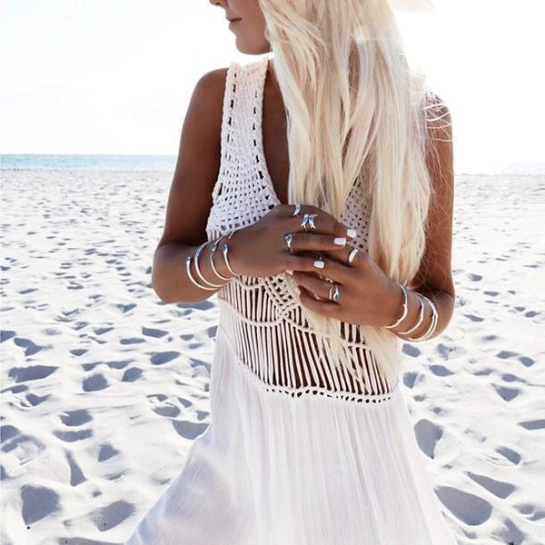 Summer Beach Split Dress - Kate Wardrobe