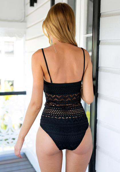 Black Bohemian Monokini Suit - Kate Wardrobe