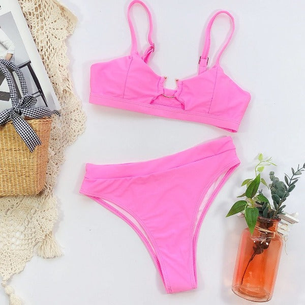 Elegant Cut Ring Bikini Set - Kate Wardrobe