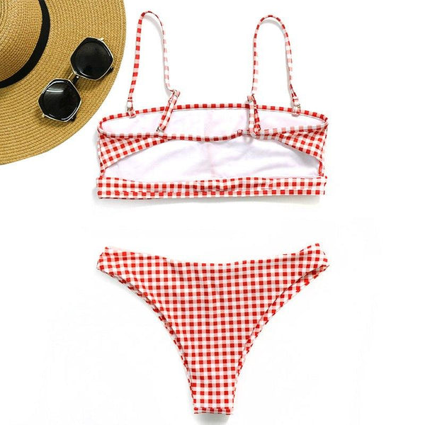 Retro Plaid Bikini Set - Kate Wardrobe
