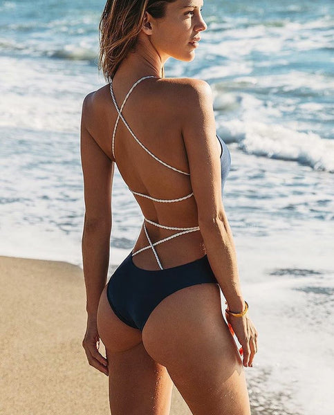 Backless and Straps Bikini Suit - Kate Wardrobe