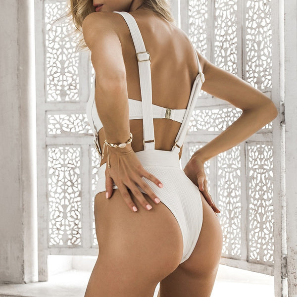 Double Buckle Bikini Suit - Kate Wardrobe