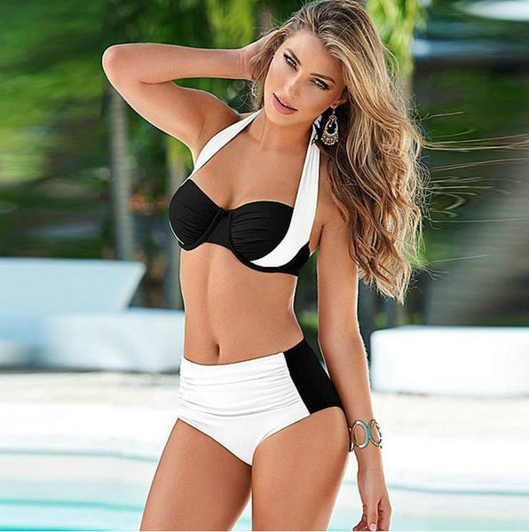 Sexy Sporty High-waist Bikini Set - Kate Wardrobe