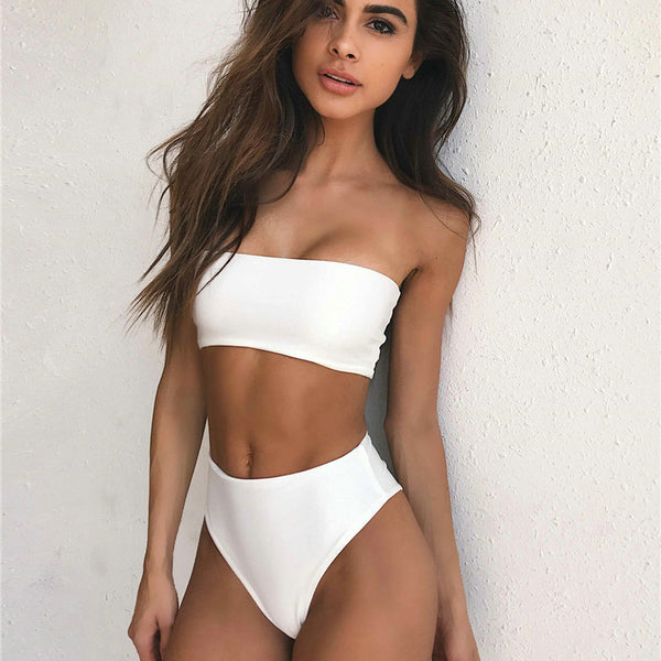High-waist Summer Bikini Set - Kate Wardrobe