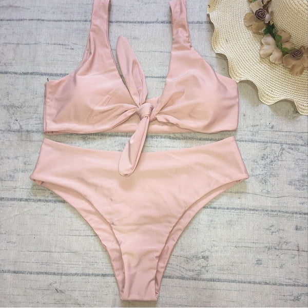 High-waist Sexy Bikini Set - Kate Wardrobe