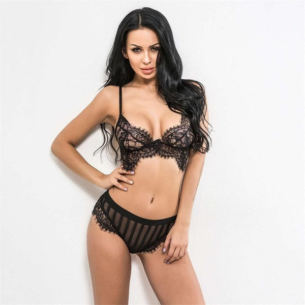 Sexy Black High-waist Intimate Set - Kate Wardrobe