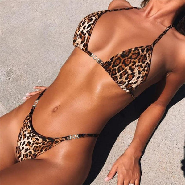 Leopard Sexy Two-Piece Set - Kate Wardrobe