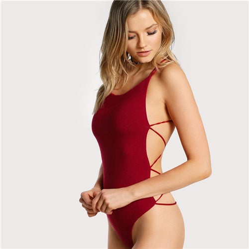 Exotic Back Strings Bodysuit - Kate Wardrobe