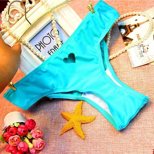 Heart Design Brazilian Bikini Undies - Kate Wardrobe