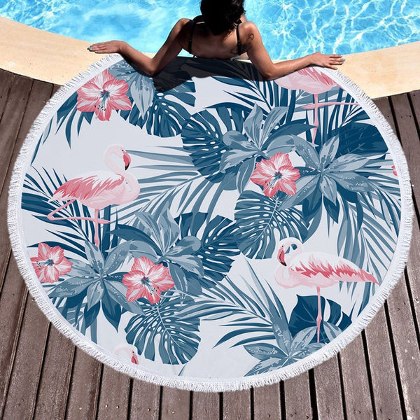 Flamingo Beach Blanket - Kate Wardrobe