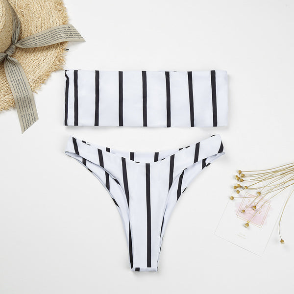 Stylish Girl Striped Bikinis - Kate Wardrobe