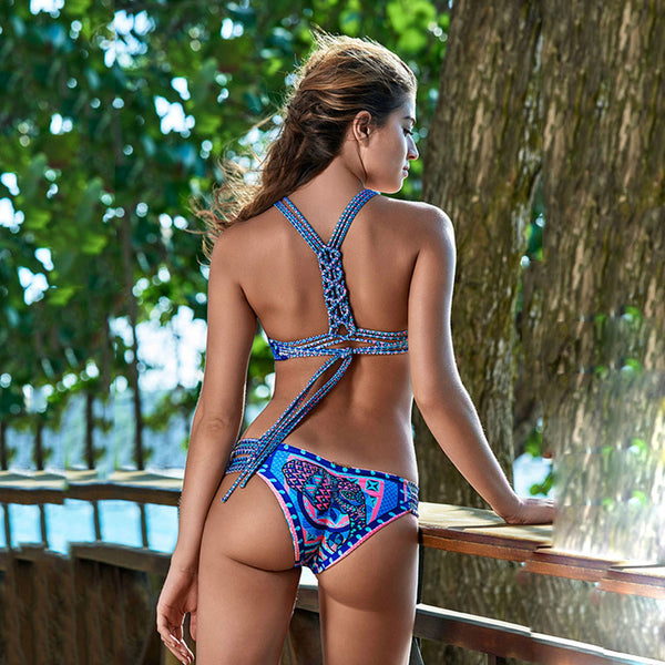 Blue Hippie String Bikini - Kate Wardrobe