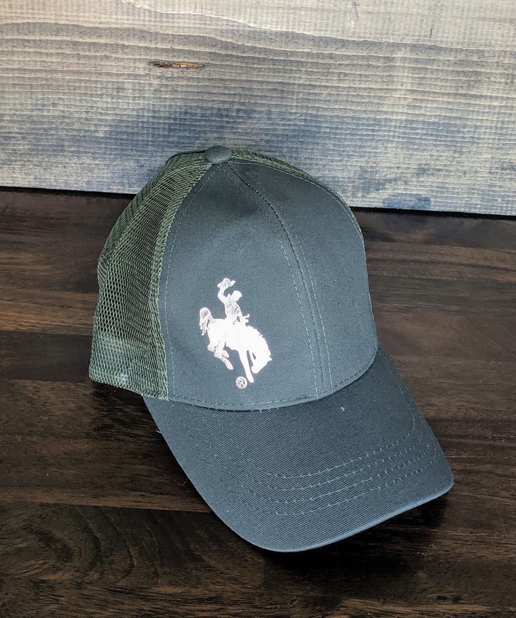 High pony hat with rose gold Wyoming Steamboat