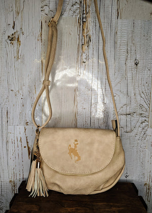 Sepia crossbody saddle bag