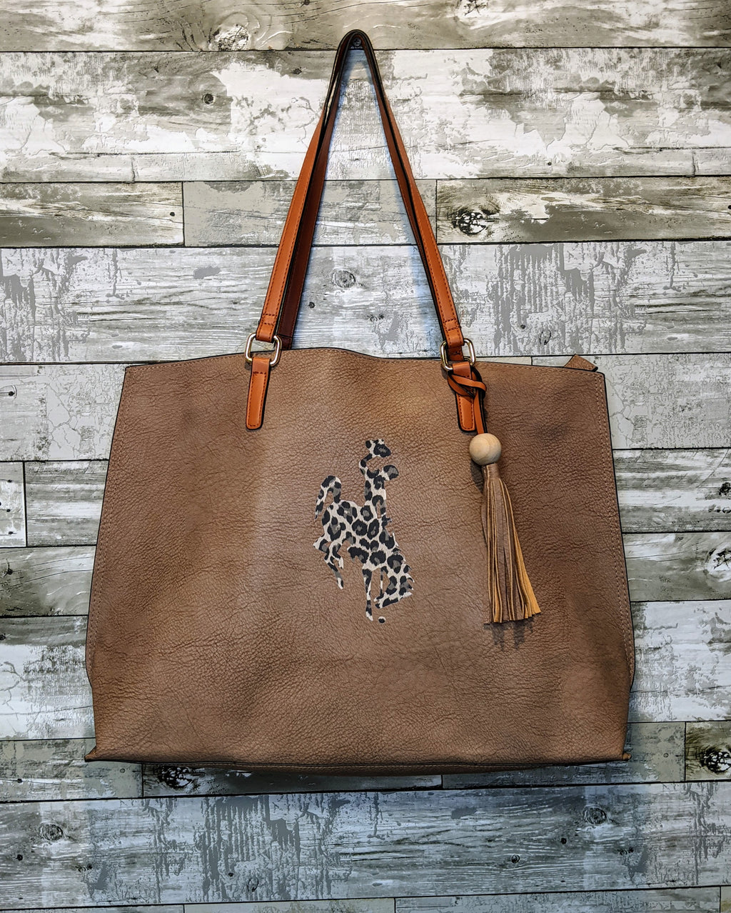 Leopard Wyoming Steamboat Tote Bag