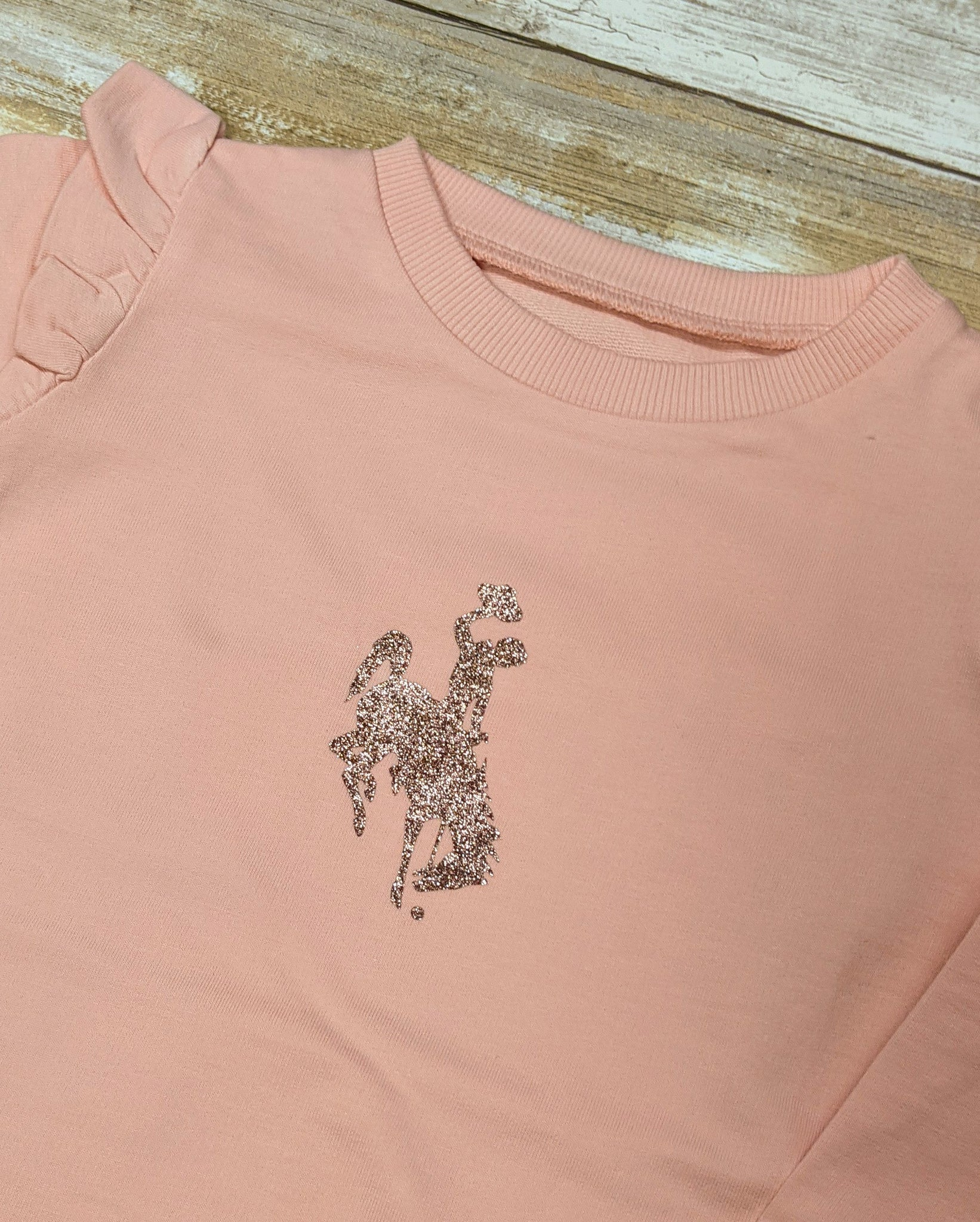 Pink Wyoming Steamboat Sweatshirt Tunic