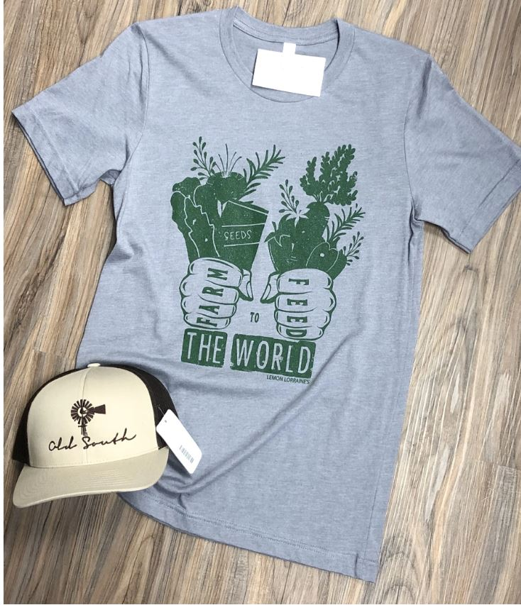 Farm To Feed The World Tee - SMALL AND MEDIUM ONLY
