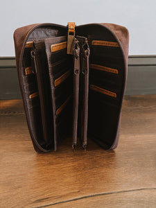 Brown Leather Kacy Organizer