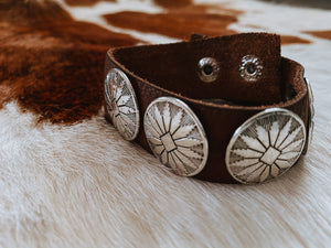 The Laura Leather Snap Bracelet