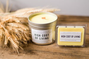 High Cost of Living Candle