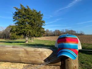 Serape High Pony Hat