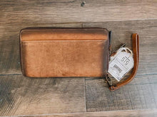 Load image into Gallery viewer, Brown Leather Kacy Organizer