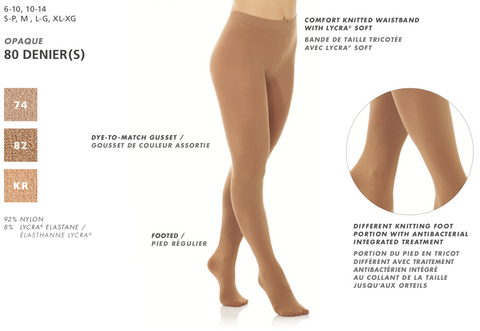 Mondor Footed Tights Semi-Opaque Model 3344 Color 74